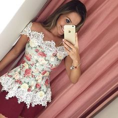 Swans Style is the top online fashion store for women. Shop sexy club dresses, jeans, shoes, bodysuits, skirts and more. Stylish Dresses, Simple Dresses, Cute Fashion, Fashion Outfits, Womens Fashion, Fancy Tops, Fashion 2020, Blouse Designs, Ideias Fashion