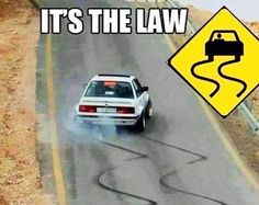 Obey the road signs #obey #skids #bmw #e30