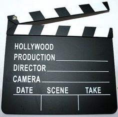 Amazon.com: Hollywood Director's Film Movie Slateboard Clapper: Toys & Games