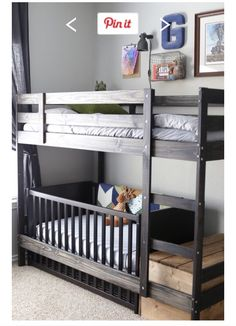 Bunk with crib