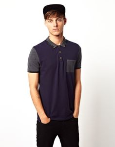 ASOS Polo with contrast pocket and sleeves