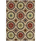 Suzani Ivory 5 ft. 3 in. x 7 ft. 5 in. Area Rug