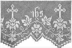 (4) Name: 'Crocheting : Daffodil Altar Lace Filet Crochet Patter