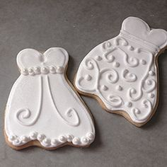 Wedding themed cookies for a bridal shower.