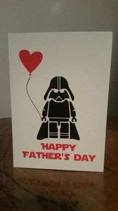 Star Wars Father's Day Fathers Day Greeting Card Darth Vader by omgthatsgorgeous on Etsy https://www.etsy.com/ca/listing/273742306/star-wars-fathers-day-fathers-day