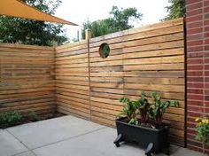 patio with privacy fence - Google Search