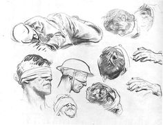 Sketches of Injured by War by Sargen
