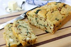 "Caramelized Onion & Spinach Olive Oil Quick Bread Recipe - I think this with almond/coconut flour and almond milk would be amazing!  AND, I think with all of the goodies in this ""bread"" it would be WAY better than Jillian's Paleo bread!!"