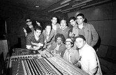 """Celia Cruz with Los Fabulosos Cadillacs recording """"Vasos Vacios"""""""