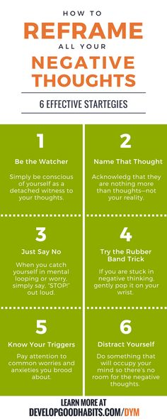 Effective strategies for reframing negative thinking.