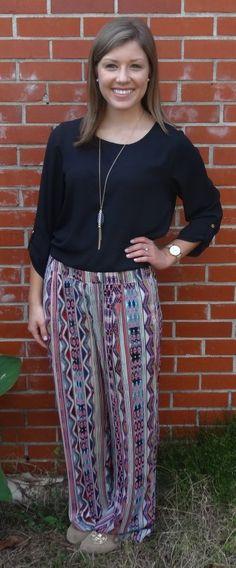 Super adorable printed pants, fall fashion - Studio 3:19
