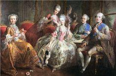 La tasse de chocolat - Famille du Duc de Penthièvre - Jean-Baptiste Charpentier 1768
