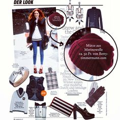 "The ""oxblood beanie"" feautured in Annabelle magazine"