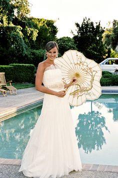 #parasols hair by Sheila Raye Stone www.sheilarayestone.com   Read more - http://www.stylemepretty.com/2009/03/10/real-wedding-anna-and-stephen/