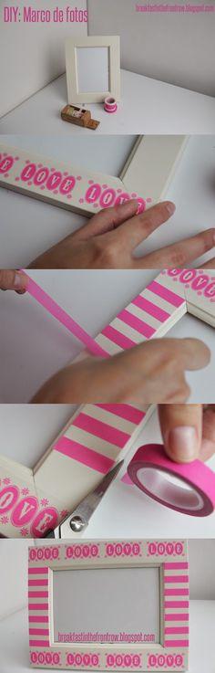 DIY: Marco de fotos con washi tape