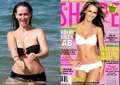 Jennifer Hewitt in real life vs. magazine cover