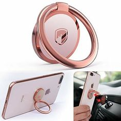 rose gold phone clip Vintage Gold Engagement Rings, Rose Gold Engagement Ring, Oval Engagement, Top Casual, Magnetic Phone Holder, Best Cell Phone, Ring Stand, Car Mount, Cell Phone Accessories
