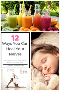 How to repair and heal damaged nerves: best foods, breathing exercises, yoga, home remedies and lifestyle tips for nerve issues, anti stress and depression. Hangover and addiction recovery. Good Brain Food, Recovery Food, Stress And Depression, Nerve Pain, Be Natural, Holistic Healing, Natural Medicine, Home Remedies, Addiction Recovery