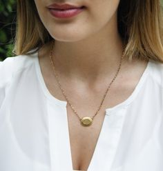 exvoto vintage gold necklace