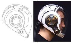 Pacific Rim JAEGER Drift pilot helmet