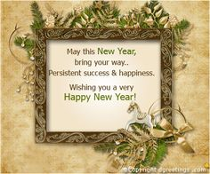 Wish everyone a Happy New Year with this lovely card.