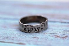would like this very much as a ring representing a promise to someone