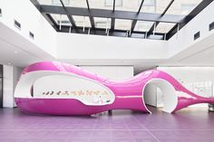 nhow Hotel by Sergei Tchoban & Karim Rashid, Berlin Germany hotel hotels and restaurants Berlin Hotel, Design Movements, Architectural Photographers, Karim Rashid, School Photography, Futuristic Furniture, Still Standing, Glass Roof, Reception Areas