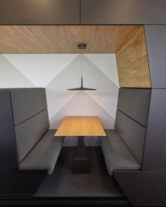 Restaurant booth seating design products ideas for 2019 Lounge Design, Corporate Interiors, Office Interiors, Commercial Design, Commercial Interiors, Restaurant Booth Seating, Office Lounge, Office Chairs, Real Estate Office