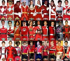 All the Red Rangers Power Rangers Ninja Storm, Power Rangers Zeo, Power Rangers Megaforce, Power Rangers Samurai, Power Rangers Cosplay, Rangers Team, Go Go Power Rangers, Mighty Morphin Power Rangers, Power Rangers Timeline