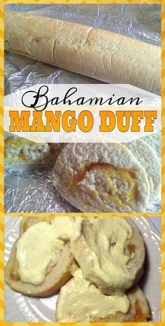 Bahamian Mango Duff - New Ideas Bahamian Coconut Tart Recipe, Guava Duff Recipe, Tart Recipes, Cooking Recipes, Bread Recipes, Chicken Recipes, Bahamian Food, Caribbean Recipes, Caribbean Food