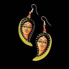 Terracotta Jewellery Making, Kalamkari Painting, India Art, Handcrafted Jewelry, Handmade, Polymer Clay Jewelry, Indian Jewelry, Jewelry Making, Jewellery Diy