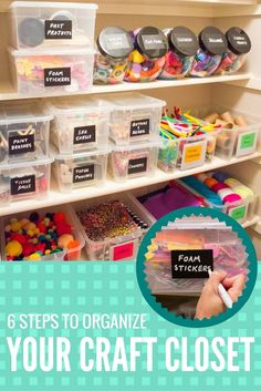 Ready to get organized and tackle your craft clutter once and for all? @designimprovise shares her tips and tricks for organizing your craft supplies with affordable storage supplies.