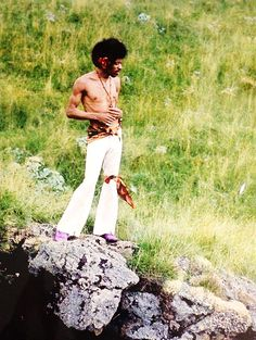 Jimi Hendrix in Hawaii, 1968. -Dazed And Confused