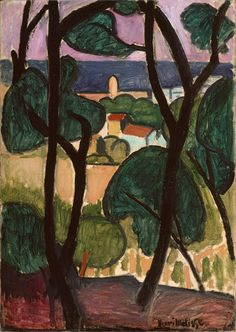 View of Collioure and the Sea, 1907  Henri Matisse (French, 1869–1954)  Oil on canvas