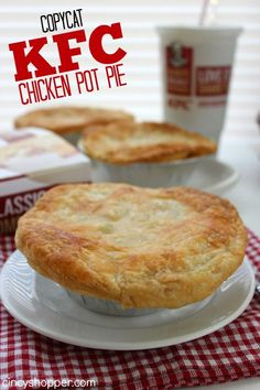 If you are a fan of pot pies you are going to love this CopyCat KFC Pot Pie Recipe. My kiddos and hubby LOVE KFC Pot Pies. I love KFC too but purchasi Kfc Chicken Pot Pie Recipe, Chicken Recipes, Kfc Pot Pie Crust Recipe, Chicken Pot Pie Using Puff Pastry Recipe, Cracker Barrel Chicken Pot Pie Recipe, Simple Pot Pie Recipe, Baked Chicken, Chicken Pot Pie Filling, Chicken