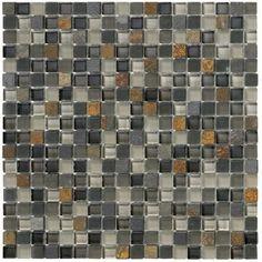 "Crystal Stone II 5/8"" x 5/8"" - Slate Mosaic By SouthCypress.com"