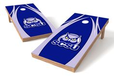 Southern Connecticut State Owls Cornhole Board Set - The Edge (w/Bluetooth Speakers)