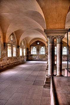 I have a monastery in my 3rd book and this is how I imagined some of the layout (Monastery - Maulbronn Germany (HDR))