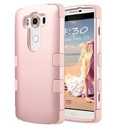 "LG V10 Case, ULAK [3 in 1 Shield] Shock Absorbing Case with Hybrid Cover Soft silicone + Hard PC Material Design for LG V10 (5.7"" inch) 2015 Release Rose Gold, http://www.amazon.com/dp/B01DDE9M0S/ref=cm_sw_r_pi_awdm_x_p9jgybMTWHB10"