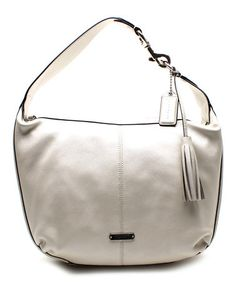 Another great find on #zulily! Pearl Tassel Avery Leather Hobo #zulilyfinds