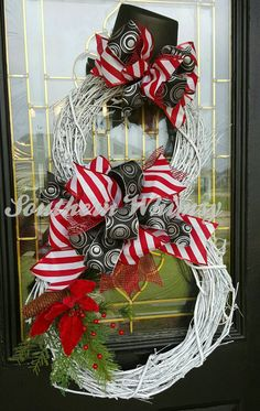 Door Decoration Grapevine Snowman Christmas by SouthernWhimsyChic