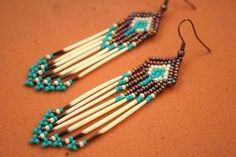 native american beaded earrings by vladtodd