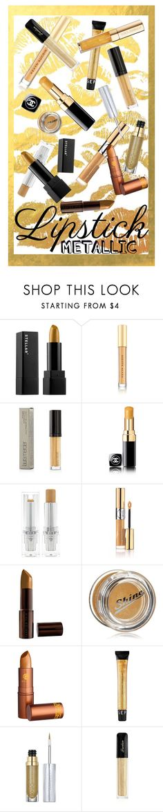 """""""Golden Opportunity"""" by rachael-aislynn ❤ liked on Polyvore featuring beauty, Kevyn Aucoin, Chanel, Forever 21, Yves Saint Laurent, Fashion Fair, Lipstick Queen, Sephora Collection, Urban Decay and Guerlain"""