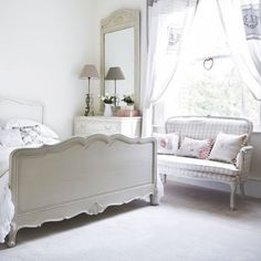 Gray French country bedroom