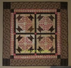 pink, brown, quilt small quilt
