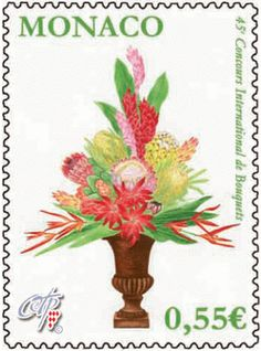 International Bouquet Competition stamp by Monaco