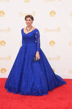 Pin for Later: The Small Screen's Hottest Stars on the Emmys Red Carpet! Mayim Bialik