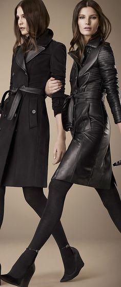El de la izquierda para mi !!!!!!! -BURBERRY LONDON. black leather trench.