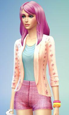 Sims 4 Updates: Floral Blazer at JSBoutique