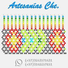 Descarga esquema para realizar collar en mostacilla – Okama – Artesanías Che